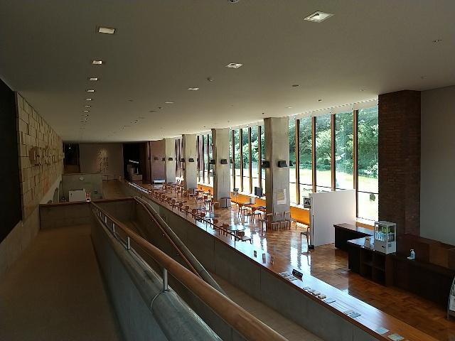 山口県立美術館の展示室を出たところ
