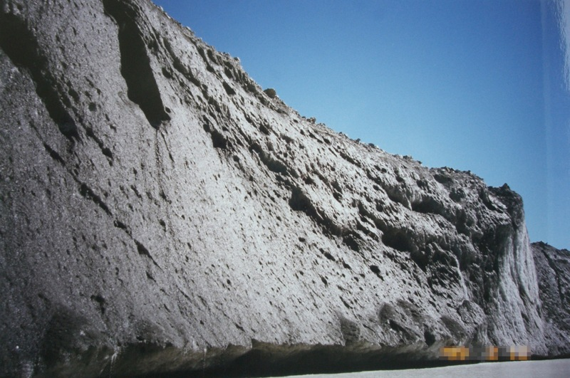 高くそびえる氷河